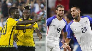 Jamaica y Estados Unidos durante su pase a la Final.
