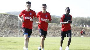 Amath (a la derecha) entrena en San Rafael