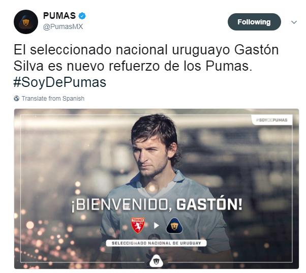 Resultado de imagen para Gastón Silva pumas