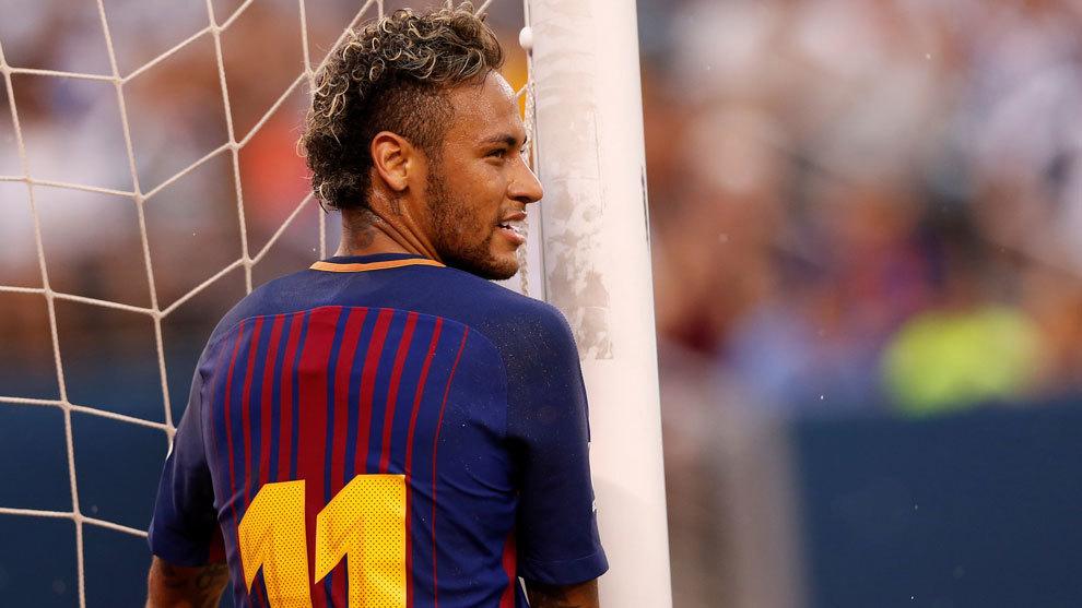 Neymar durante un partido de pretemporada en Estados Unidos