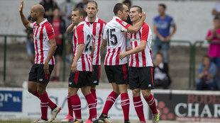 Athletic celebra un gol en la pretemporada