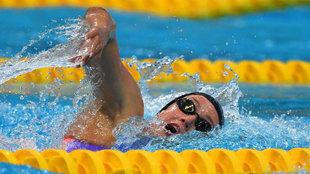 Mireia Belmonte compite hoy en la final de los 1.500 libre
