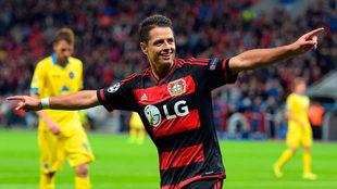 Así festejaba sus goles en Alemania.