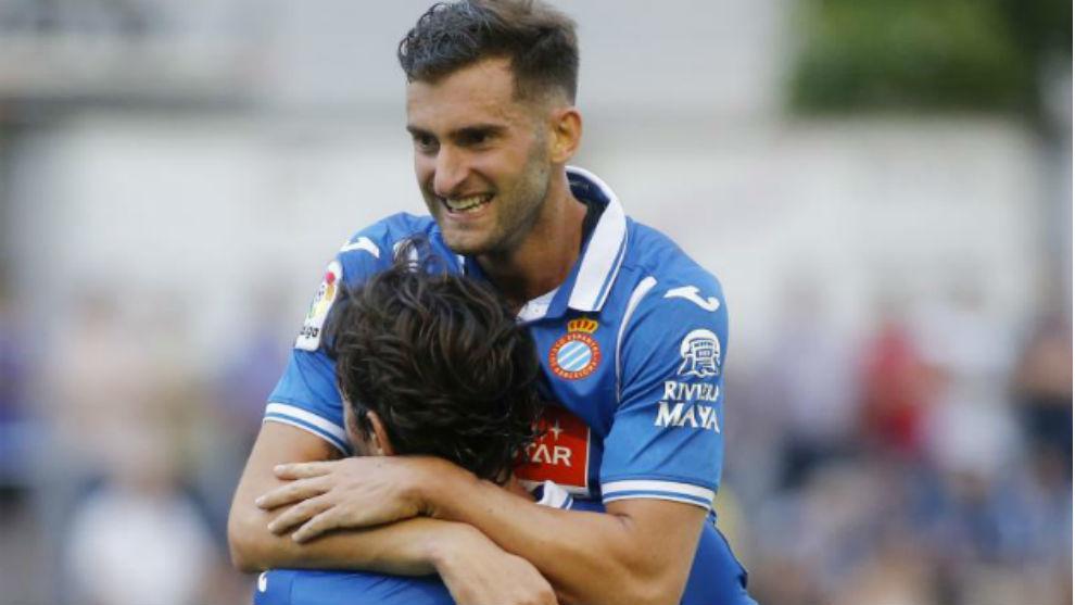 Baptistao se abraza con Granero.