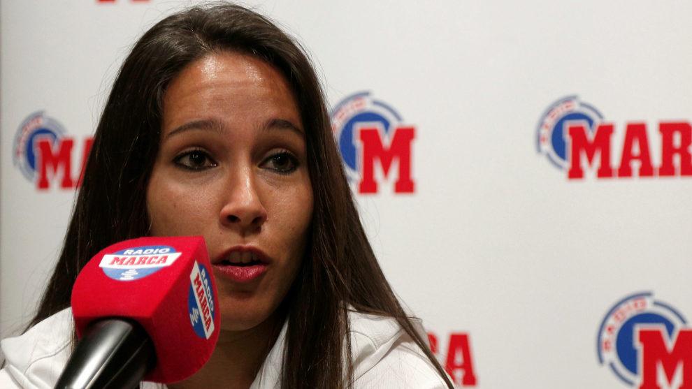 Mari Paz Vilas en los micrófonos de Radio MARCA
