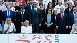 Foto de familia de todos los protagonistas en el homenaje del...