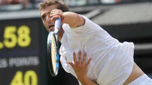 Albert Ramos durante el reciente torneo de Wimbledon.