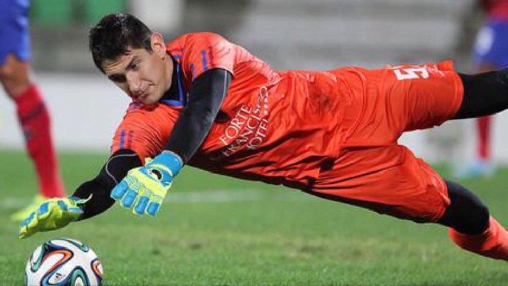 Stefanovic en un partido con el Moreirense