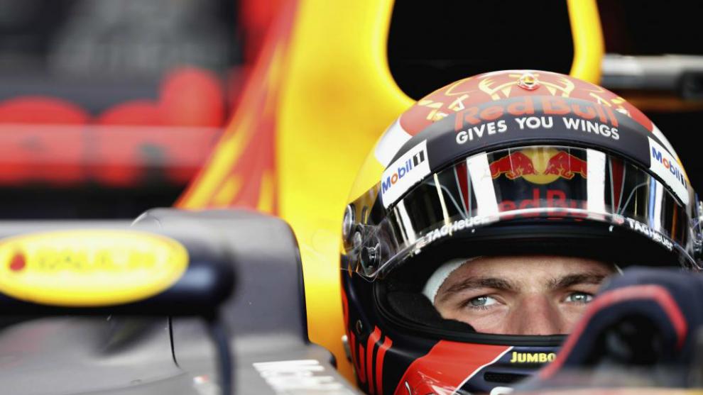 Max Verstappen en Silverstone