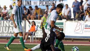 Narváez, en el amistoso contra la Balona.