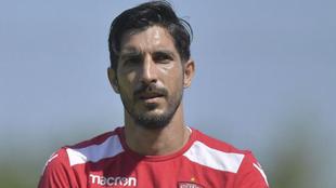 Jaime Penedo, portero del Dinamo de Bucarest.