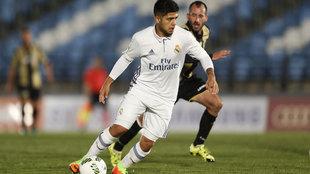 Sergio Díaz, en un partido de la temporada pasada con el Castilla