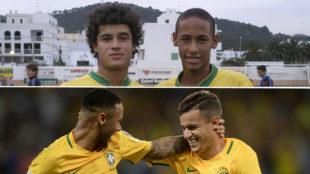 Neymar y Coutinho, casi una década juntos