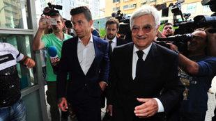 Rubén Castro, junto a Baena Bocanegra, su abogado.