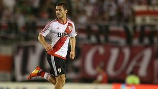 Joaquín Arzura, durante un partido con River Plate