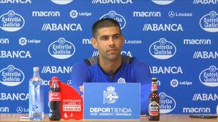Juanfran Moreno, en rueda de prensa.