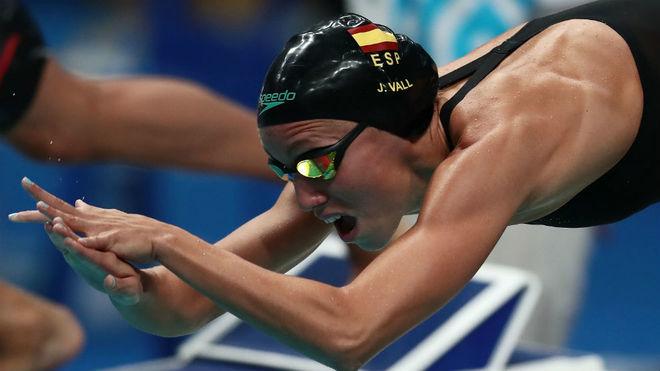 Jessica Vall, en la salida de su semifinal