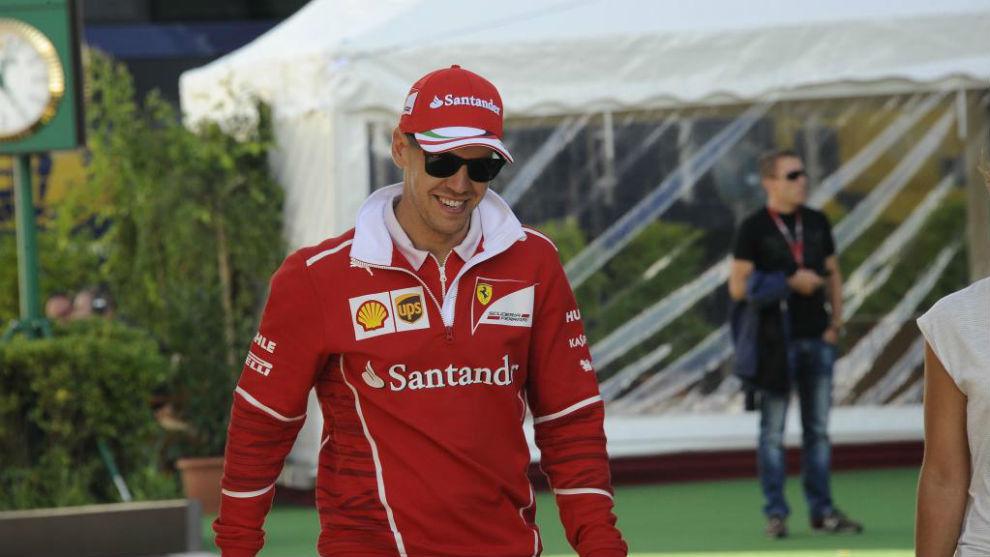 Seabstian Vettel, en el circuito de Hungaroring