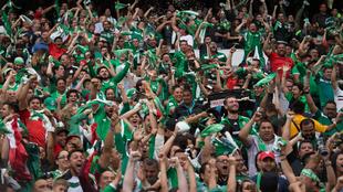 Aficionados mexicanos, en el partido ante Estados Unidos.
