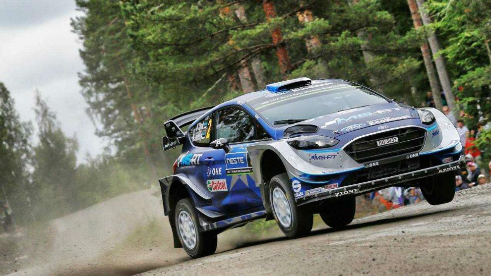 El piloto de M-Sport, al volante de su Ford Fiesta WRC