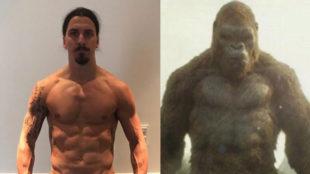 Zlatan (35), en la imagen donde se compara con King Kong