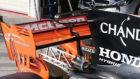 La nueva pieza de McLaren sobre la zona del escape, se une al ala en T...