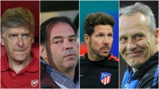 Wenger, Moulin, Simeone y Streich son los cuatro entrenadores más...