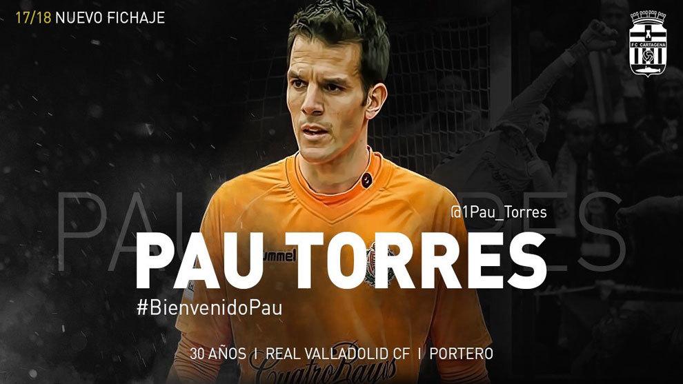 Pau Torres es presentado por el Cartagena