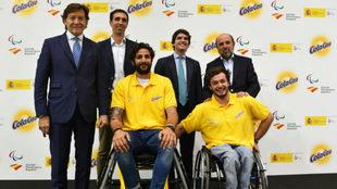 Daniel Stix, Ricky Rubio, Miguel Segarra, Javier Coromina y Jaime...