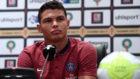 Thiago Silva, durante su comparecencia de este viernes