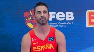 Juan Carlos Navarro, durante la presentación de la selección.