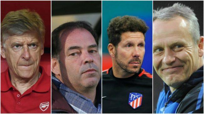 Wenger, Moulin, Simeone y Streich son los cuatro entrenadores m�s...