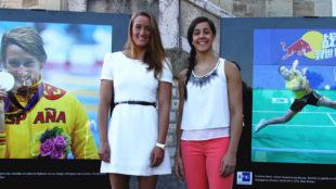 Mireia Belmonte (26) y Carolina Marin (24), dps de las espa�olas que...