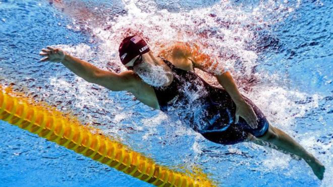 Katie Ledecky, en la prueba de los 800 libre de los Mundiales.