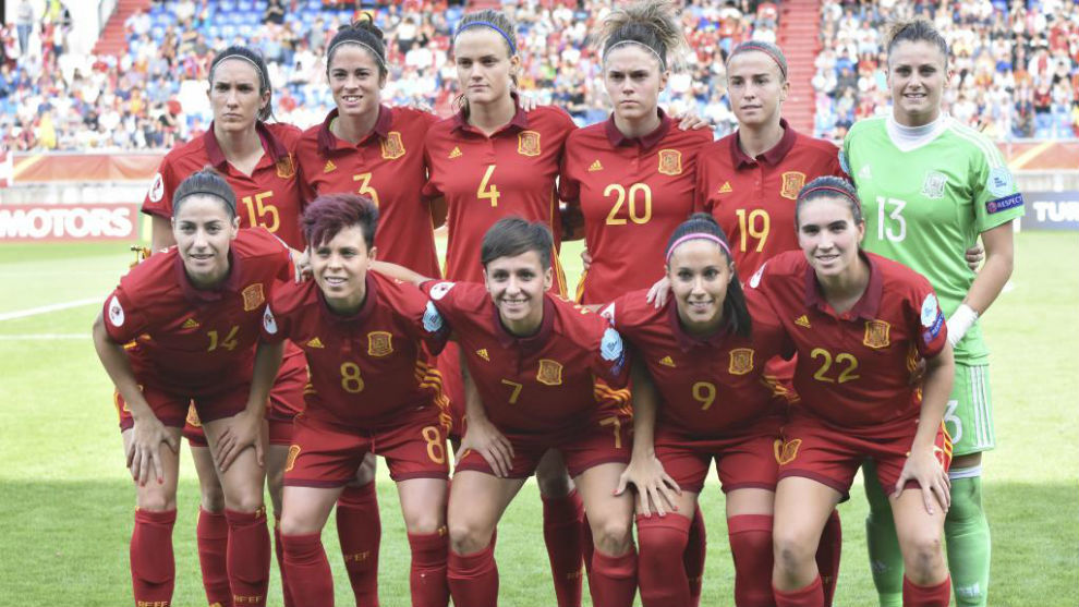 Once inicial de España ante Austria.