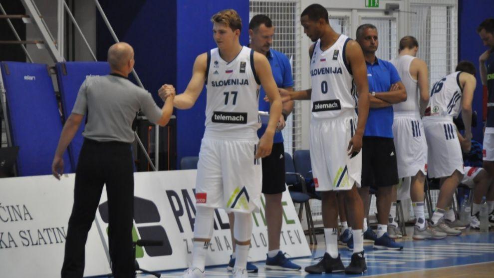 Doncic y Randolph, con la selección de Eslovenia.