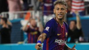 Neymar (25), durante El Cl�sico en el Hard Rock Stadium de Miami
