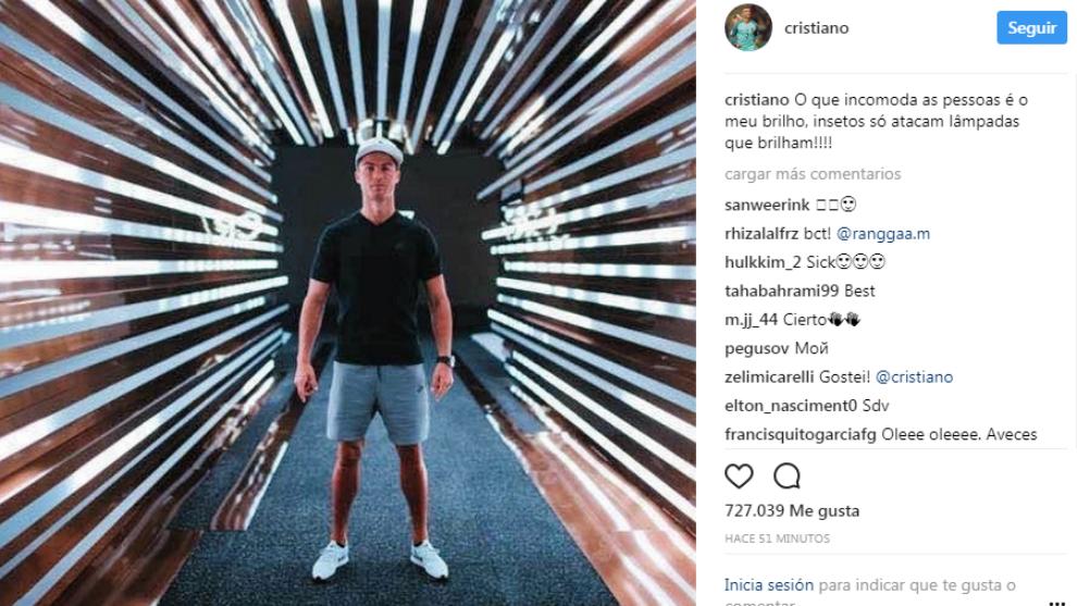 რონალდუს უცნაური განცხადება Instagram-ზე