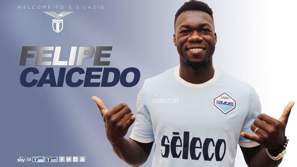 Felipe Caicedo (28) ha sido presentado como nuevo jugador de la Lazio