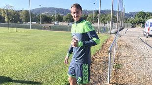Ignasi Miquel en un entrenamiento del Lugo.