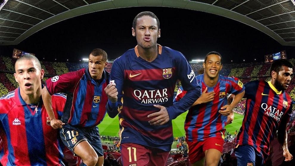 Ronaldo, Rivaldo, Neymar, Ronaldinho y Dani Alves.