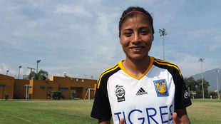 Nancy Antonio, elemento de Tigres Femenil.