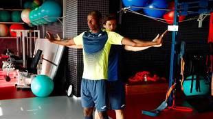 Adrián Ramos trabajó en el gimnasio en su vuelta al trabajo