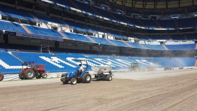 Así está ahora mismo el Santiago Bernabéu.