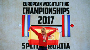 Lydia Valentín, campeona de Europa en 2017.
