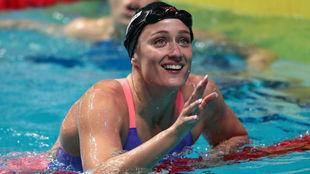 Mireia Belmonte tras la final de 200m mariposa en los Mundiales de...
