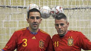 José Ruiz y Miguelin, con la camiseta de la selección española