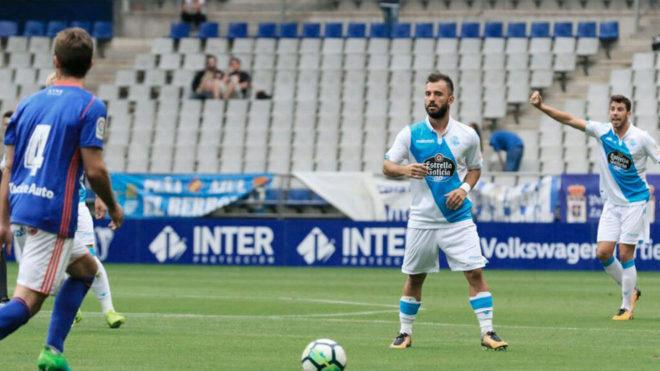 Un lance del partido disputado en el Carlos Tartiere
