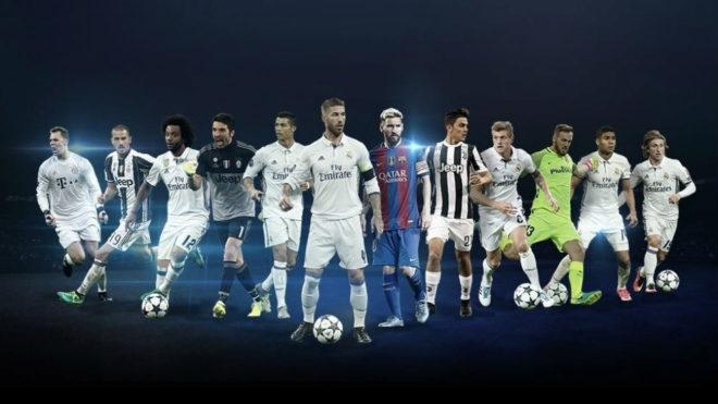 Todos los jugadores nominados