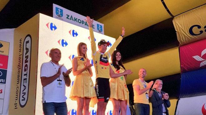Dylan Teuns durante la Vuelta a Polonia.